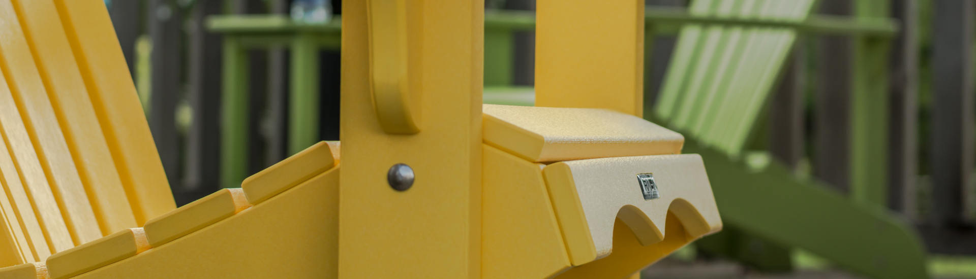 close up adirondack chair